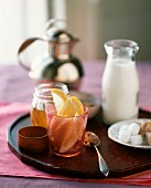 Assorted Sweeteners for Tea, Lemon, Sugar Cubes, Honey and Milk