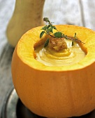 Pumpkin Soup in Pumpkin