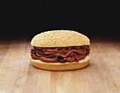Roast Beef Sandwich on Sesame Seed Roll