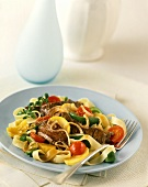 Fettucine with Beef and Vegetables