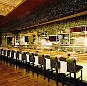Interior of a Sushi Bar