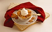 Bread Pudding with Whip Cream