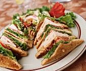 Clubsandwiches mit Pute
