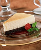 A Slice of Black Bottom Cheesecake