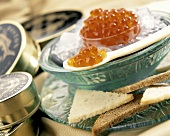 Salmon Roe on Ice with a Spoonful