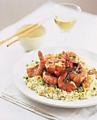 Shrimp and Rice Sauteed