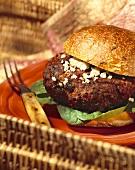 Hamburger with Crumbly Cheese