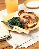 Cornbread Stuffed Pork Chop