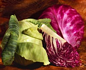 Still Life:Red and Green Cabbage