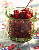 Berry Chutney in a Glass Container