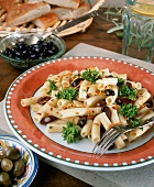 Ziti with Kalamata Olives and Broccoli Florets