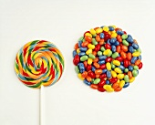 Lollipop with Jelly Beans