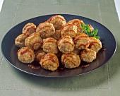 Meat Balls on a Platter