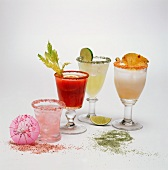 Assorted Cocktails; Each with a Sugared Rim