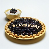 Blueberry Pie with a Bowl of Cream
