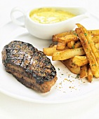 Filet mignon with home-made chips