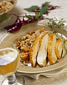 Sliced Chicken with Smoked Apple Rice