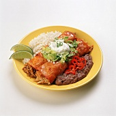 Chicken and Beef Enchiladas