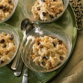 Apple Cinnamon Rice Pudding with Raisins