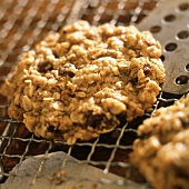 Oatmeal Raisin Cookies on a Cooling Rack