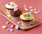 Valentine's Day Cupcakes with Candy Hearts