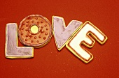 Letter Shaped Cookies (LOVE)