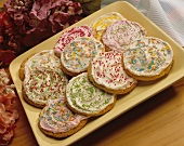Sugar Cookies with Frosting and Sprinkles