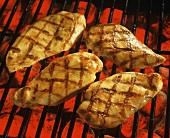 Chicken Breast Being Grilled