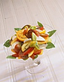 Heritage Tomato Salad with Mozzarella and Basil