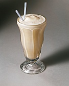 Vanilla Milk Shake with Straws