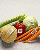 Still Life: Assorted Vegetables with a Cantaloupe