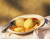 Matzoh Balls in Chicken Soup