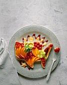 Mixed Fruit Tart Shaped like the United States of America