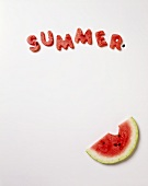 Cut-Out Watermelon Pieces; Spelling Summer