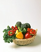 Still Life: Assorted Vegetables in a Basket