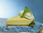 Piece of Key Lime Pie on Slate