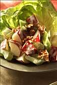 Waldorf Salad on a Bed of Lettuce