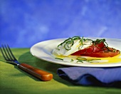 Insalata caprese (Tomaten mit Mozzarella, Italien)
