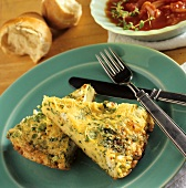 Two Slices of Pasta and Parsley Frittata