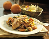 Chicken with rice and carrots (Oaxaca, Mexico)