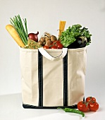 Canvas Tote Full of Groceries