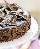 Chocolate Cake with Chocolate Ganache and Shavings