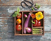 Vegetables in Wooden Crate