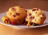 Half of a Cranberry Muffin; Whole Muffin