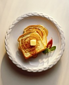 French Toast with Syrup and Butter