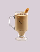 Glass Mug of Iced Coffee; Cookie