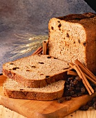 Raisin Bread Loaf with Cinnamon Sticks