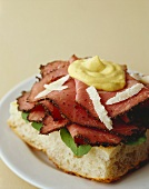 Open-faced Pastrami Sandwich with Mustard