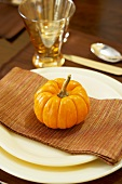 Thanksgiving Place Setting with Gourd