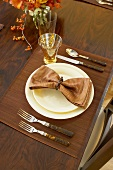 Place Setting on Thanksgiving Table